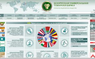 Обзор Белорусской универсальной товарной биржи БУТБ
